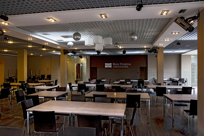 Canteen for students of Riga Stradins Unviersity