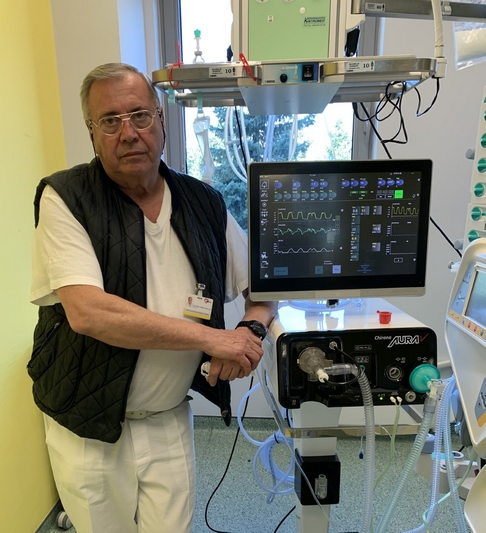 Unique lung ventilator developed by UPJS scientists- April 2020